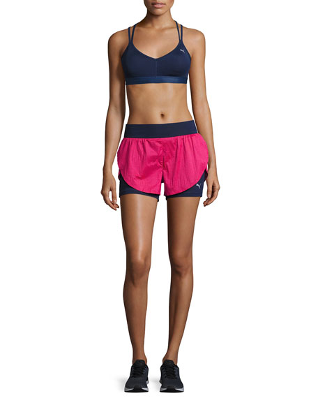 Culture Surf 2-in-1 Athletic Shorts, Blue/Pink