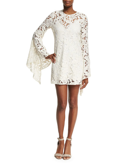 Camilla & Marc Farrow Bell-Sleeve Lace Cocktail Dress,