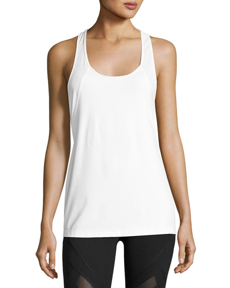 VIMMIA Scoop-Neck Twist-Back Performance Tank in White