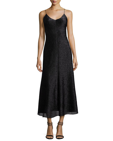 Camilla & Marc Fresia Sleeveless Metallic Cocktail Dress,