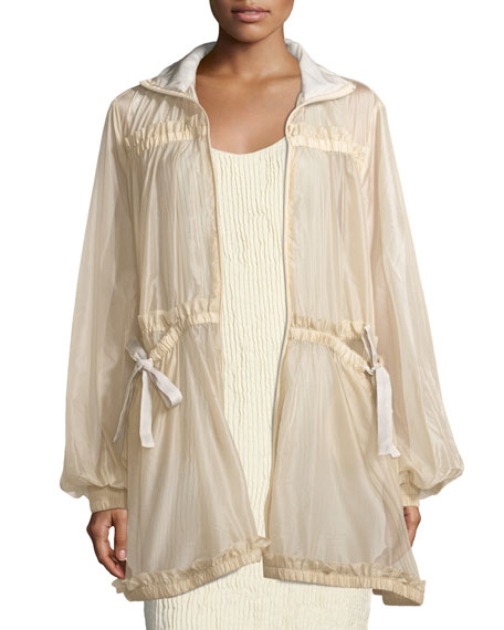 Fenty Puma by Rihanna Tiered Sheer Zip-Front Jacket