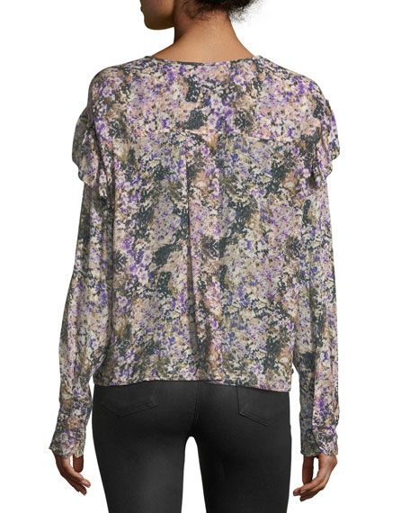 Jelby Split-Neck Cotton Blouse