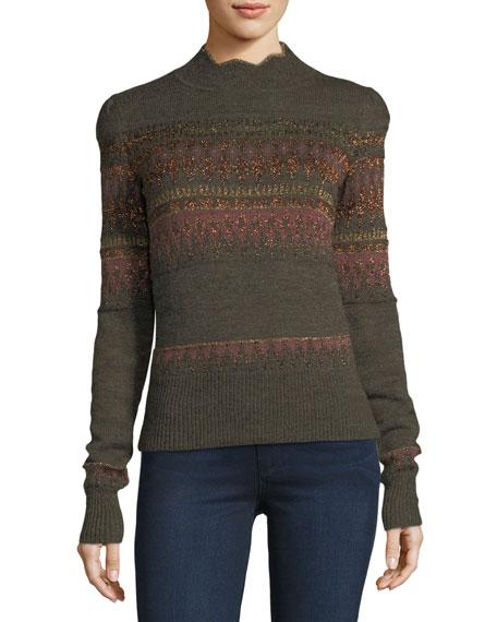 Etoile Isabel Marant Blake Fair Isle Sweater | Neiman Marcus