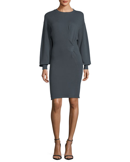 Etoile Isabel Marant Fanley Crewneck Blouson-Sleeve Cotton-Linen