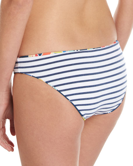 Tropical Traveler Reversible Swim Bottom, Blue