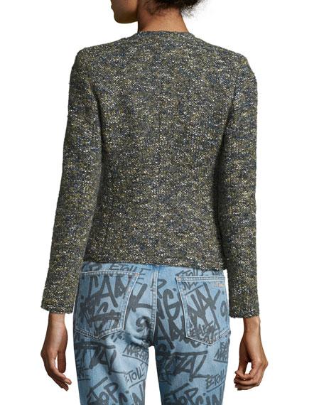 Orson Single-Button Tweed Jacket, Green