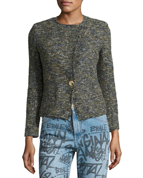 Orson Single-Button Tweed Jacket, Green