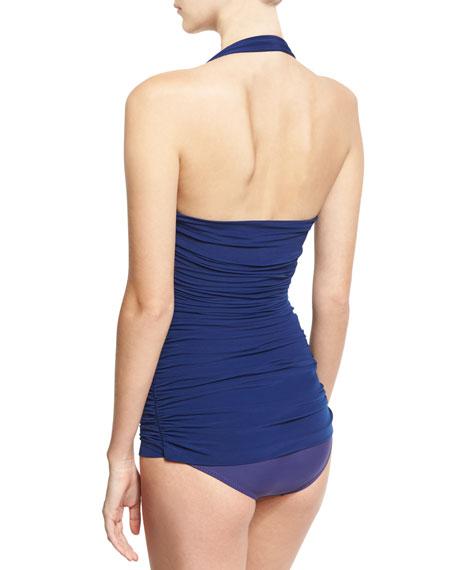 Bill Mio Halter One-Piece Swimsuit, Navy