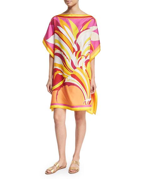 Emilio Pucci Fiore Maya Printed Silk Caftan Coverup,