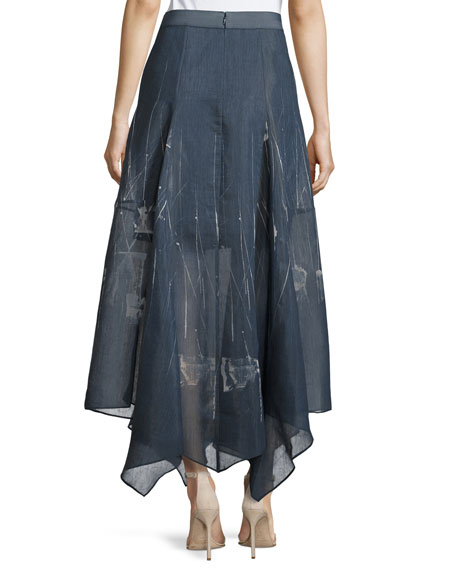 Nic Zoe Spring Tide Handkerchief Skirt Plus Size