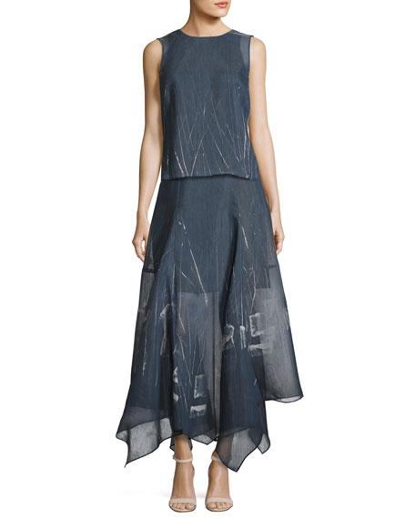 Spring Tide Handkerchief Skirt, Plus Size