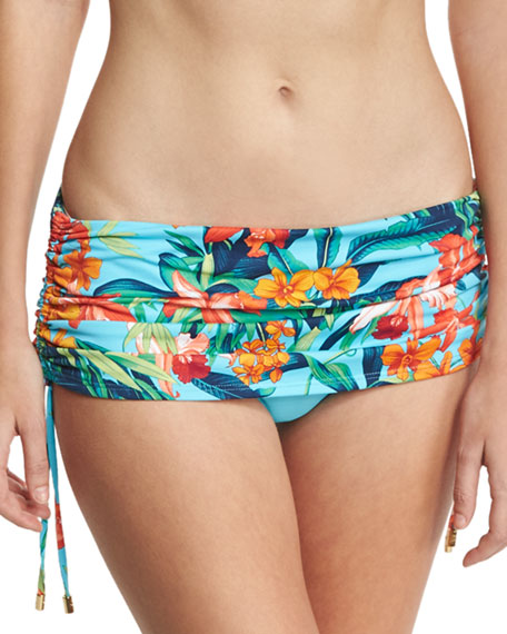 Tommy Bahama Tropical-Print Halter Swim Top, Blue Multicolor