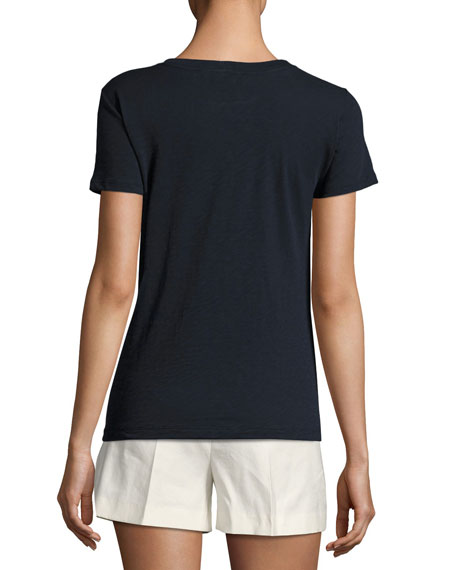 Rodiona Stretch Cotton Tee, Blue