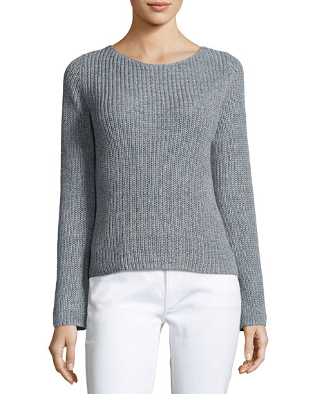 Theory Lalora Linen Cotton Sweater, Blue