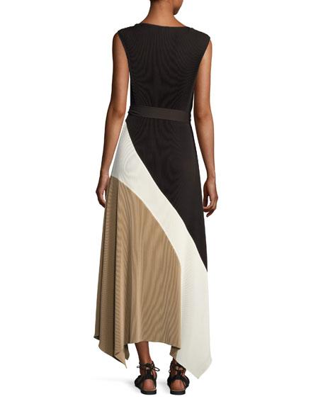 Celia Sleeveless Amorous Pleated Maxi Dress
