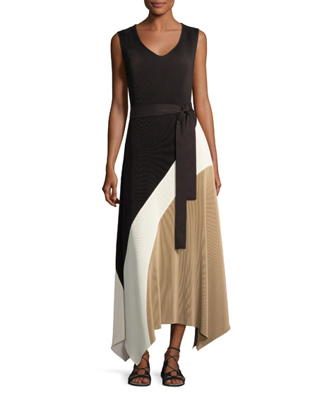Image 1 of 3: Celia Sleeveless Amorous Pleated Maxi Dress