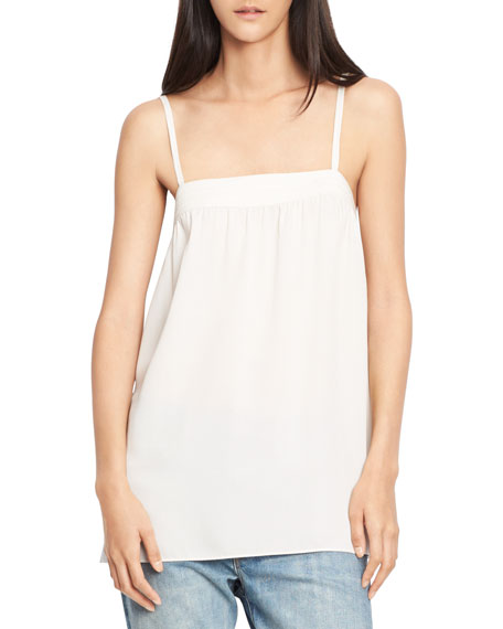 Embroidered Silk Camisole Top
