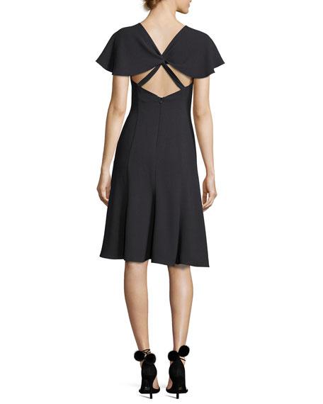 Cisco Fit-and-Flare Scuba Dress, Equinox