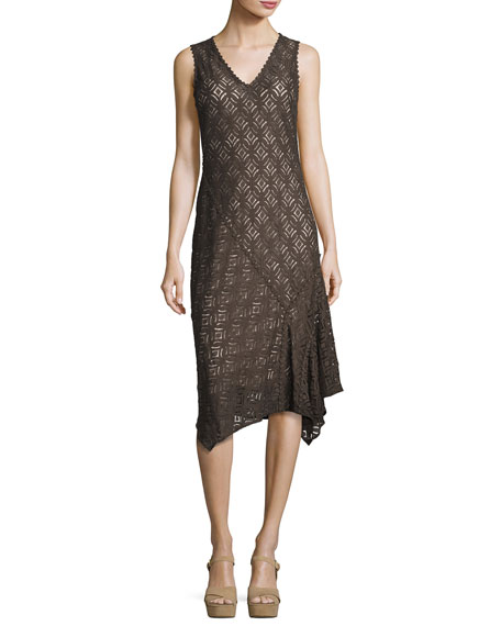 NIC+ZOE First Bloom Lace Dress, Dark Truffle, Petite