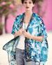Noelle Printed Jacket, Blue, Plus Size