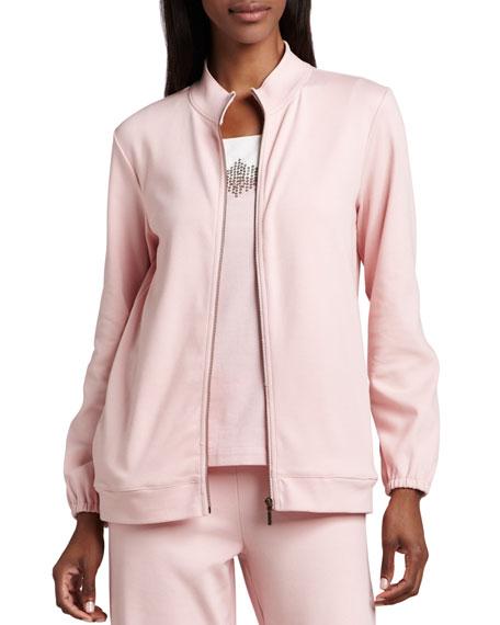 Interlock Zip Jacket, Plus Size