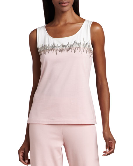Beaded Jersey Shell, Plus Size
