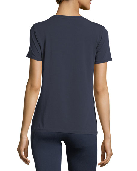 Crewneck Short-Sleeve Logo T-Shirt