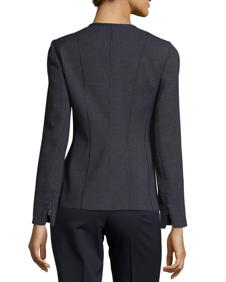 Damien Grotto Pindot Weave Zip Jacket