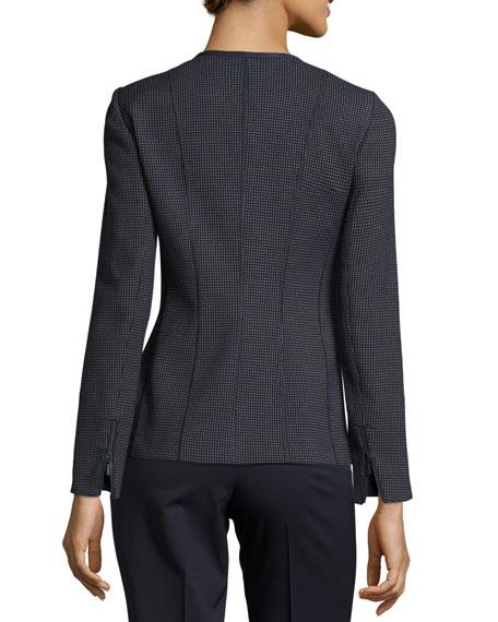 Damien Grotto Pindot Weave Zip Jacket