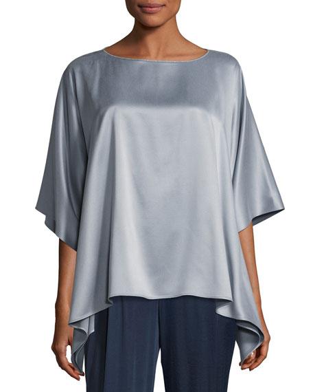 Lafayette 148 New York Abbot Dolman-Sleeve Artistry Silk
