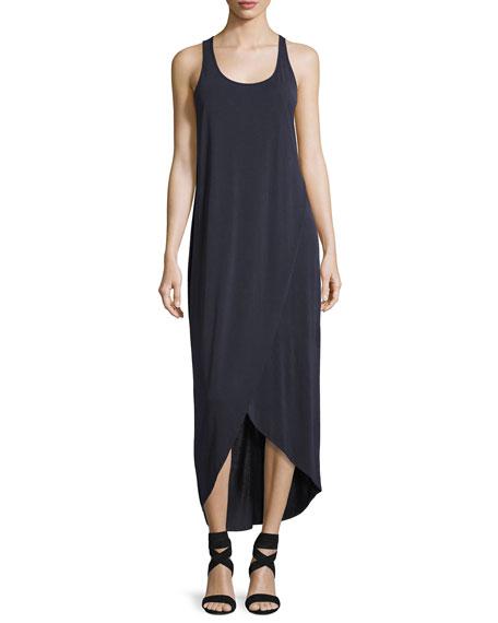NIC+ZOE Boardwalk Sleeveless Faux-Wrap Knit Dress, Washed