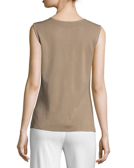 Scoop-Neck Tank, Light Brown