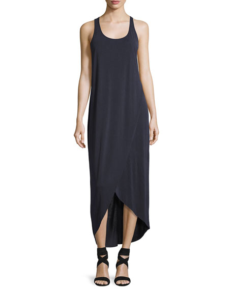 NIC+ZOE Boardwalk Sleeveless Faux-Wrap Knit Dress, Washed