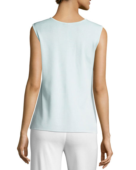 Scoop-Neck Tank, Light Blue, Petite