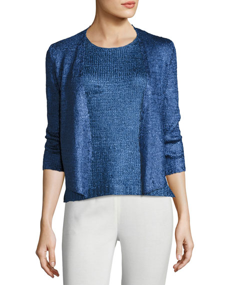 Day Dreamer Tape Yarn Cardigan, Plus Size