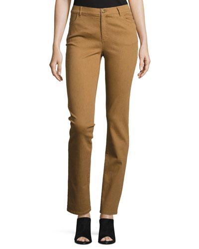 Thompson Slim-Leg Atlas Stretch-Denim Jeans, Copper