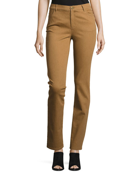Thompson Slim-Leg Atlas Stretch-Denim Jeans, Copper