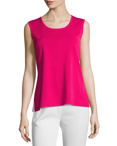 Scoop-Neck Tank, Rose, Petite