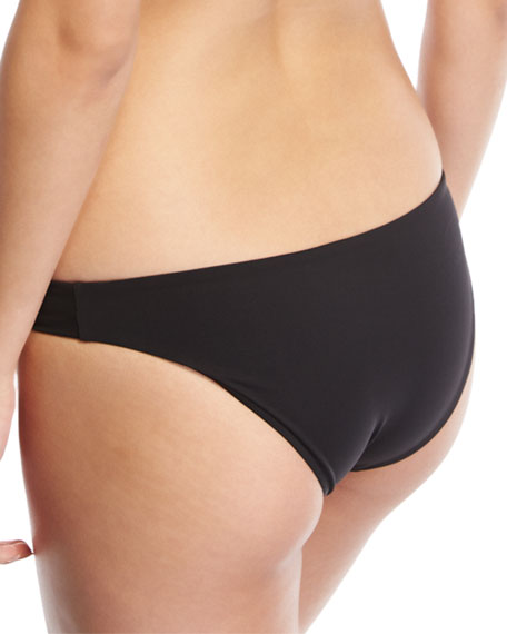 Lily Stretch Solid Swim Bottom, Black