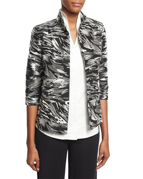Misook Dressed Up Swirl Jacket