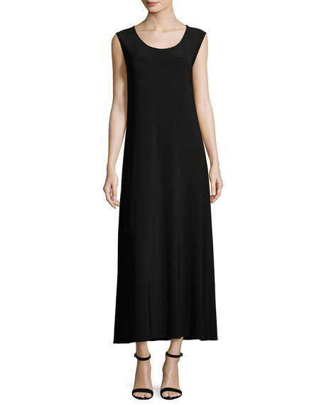 Caroline Rose Sleeveless Knit Long Dress, Petite