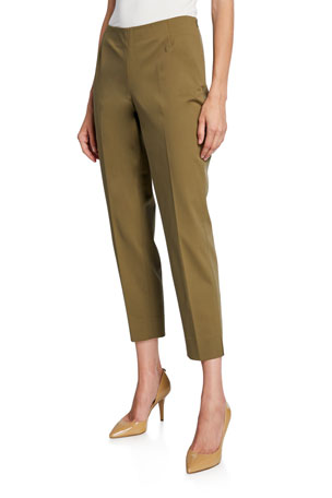 Lafayette 148 New York Stanton Fundamental Bi-Stretch Cropped Pants