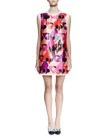 Lanvin Sleeveless Embellished Shift Dress