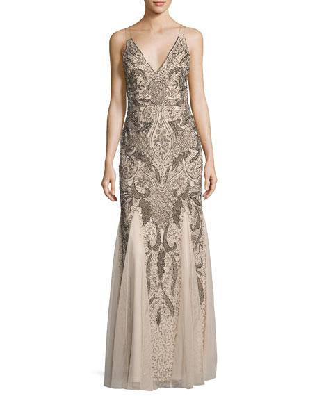 Sleeveless Beaded Dresses