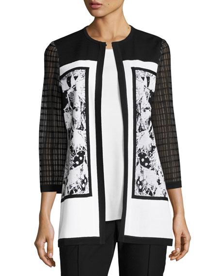 Mixed-Detail Long Jacket