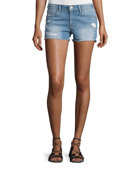 FRAME Le Cut Off Denim Shorts, Oxnard