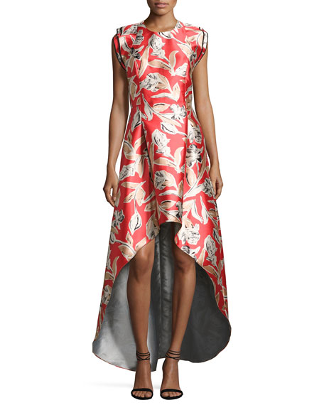 Sachin & Babi Masha Sleeveless High-Low Cocktail Dress,