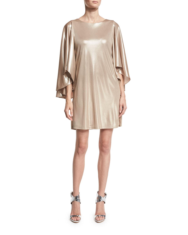 Cape Dress | Neiman Marcus