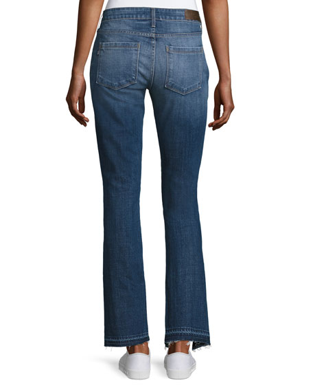 Seam Straight-Leg Jeans, Medium Blue