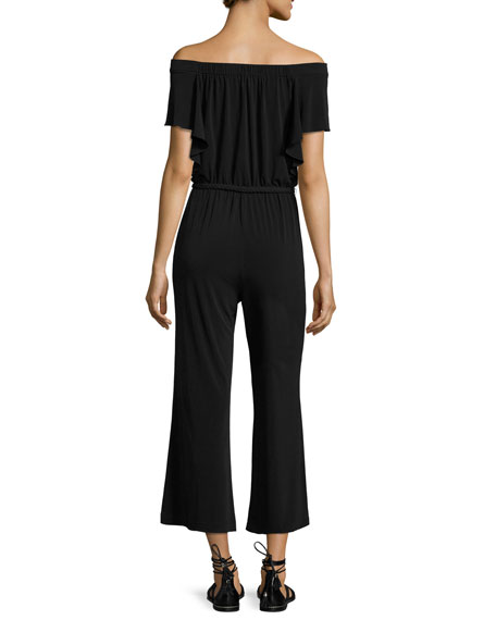 Shay Off-the-Shoulder Cropped Jumpsuit